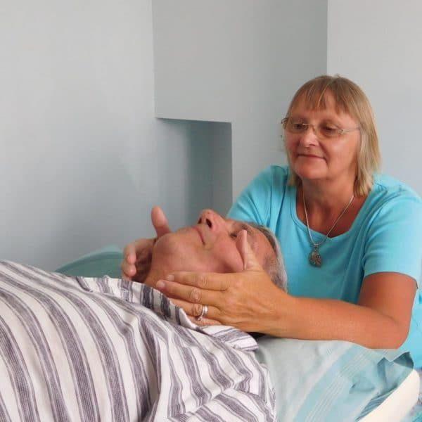 Cindy giving Reiki